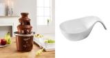 Schokobrunnen für Schokoladen-Fondue + Schüssel für 15,13€
