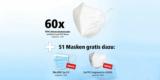 60x Siegmund Care FFP2 Masken für 29,69€ (= 0,50€ pro Stück) + 50x Mund-Nasen-Schutz + 1x FFP2 Air Queen Maske