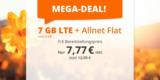 sim.de LTE All Tarife – z.B. 7 GB LTE + Allnet-Flatrate für 7,77€/Monat