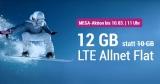 Simply LTE 10.000 Tarif (12 GB LTE, Allnet-Flat, SMS-Flat) für 12,99€/Monat