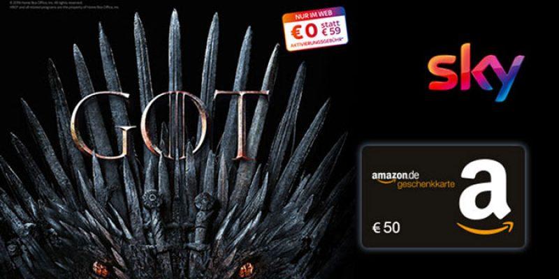 Sky Entertainment HD für 12,49€/Monat + 50€ Amazon Gutschein