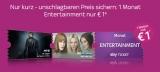 Sky Entertainment Monatsticket (Serien & Filme) für 1€