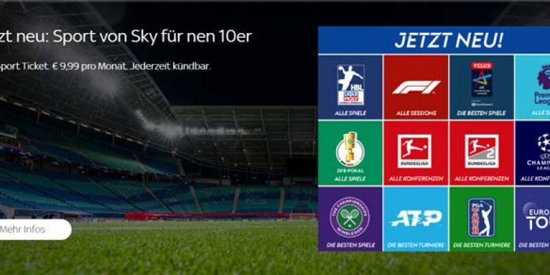 Sky Sport Ticket für 9,99€ pro Monat (dauerhaft) – z.B. Bundesliga Konferenz