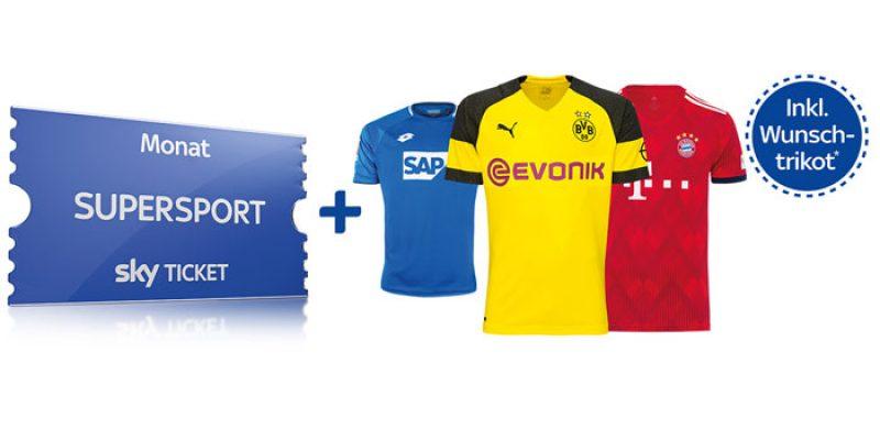 Sky Trikot Angebot: Supersport Ticket bis Ende Dezember + Trikot nach Wahl für 59,99€