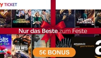 Sky Ticket + 5€ Amazon Gutschein – z.B. Sky Entertainment für 7,49€