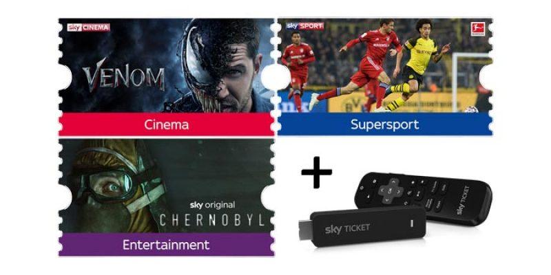 Sky Ticket Komplett (Supersport, Entertainment & Cinema) für 29,99€ im 1. Monat