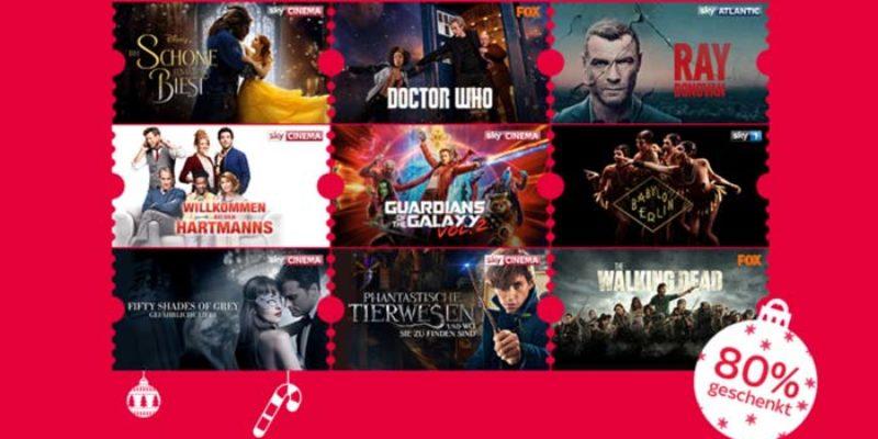Sky Ticket Weihnachts-Special: 2 Monate Sky Entertainment & Cinema für 9,99€