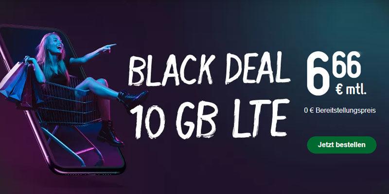 Smartmobil LTE 10 GB Tarif + 60 Freiminuten für 6,66€/Monat [Black Week]