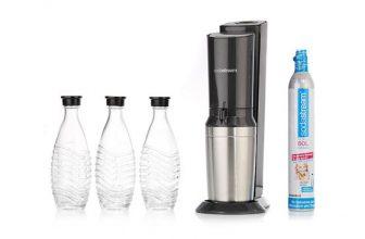 SodaStream Crystal Megapack 2.0 mit 3 Glaskaraffen für 89,95€