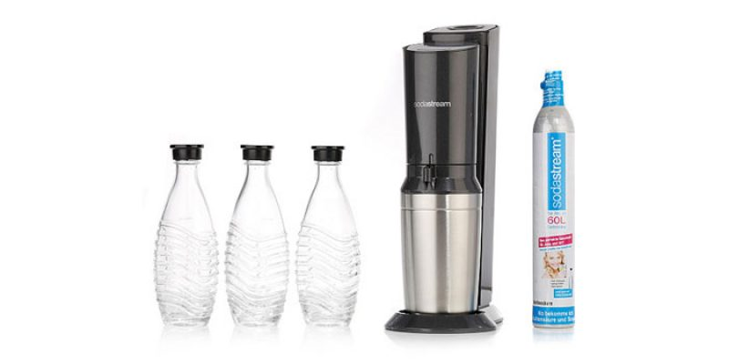 SodaStream Crystal Megapack 2.0 mit 3 Glaskaraffen für 90,72€