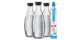SodaStream Reservepack mit CO2-Zylinder und 3x Glaskaraffen für 38,69€