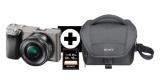 Sony Alpha 6000 Kit Systemkamera + Objektiv, SD Karte & Kameratasche für 466€