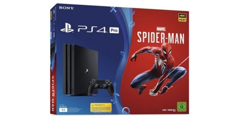 Sony PlayStation 4 Pro 1TB + Spiderman für 349€