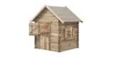 SwingKing Spielhaus Louise – Bausatz für 160 x 120 x 120 cm Holzhaus aus Fichte für 169,99€