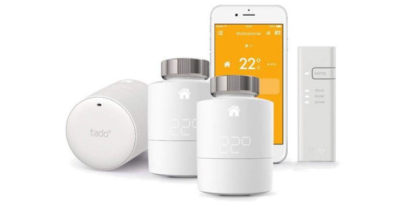 Tado Heizkörperthermostat Starter Kit V3+ (2x Thermostaten + Bridge) für 99,90€