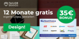 12 Monate Tailor Brands (Logo designen) für 17,94€ + 35€ BestChoice- /Amazon Gutschein Prämie