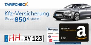 Tarifcheck: KFZ Versicherung wechseln + 60€ Amazon Gutschein geschenkt