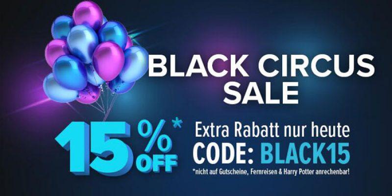 Travelcircus Black Circus Sale – 15% Gutschein auf alles (diverse Hotelangebote)