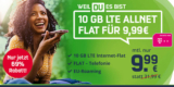 Mobilcom-Debitel Telekom Green LTE 10 GB Tarif ohne Smartphone für 9,99€/Monat