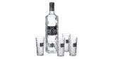 3 Liter Flasche Three Sixty Vodka + 4x Facettenschliff-Gläser für 44,83€