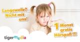 1 Monat tigertones Premium (Kinder-Hörbücher) gratis testen – ohne Kündigung