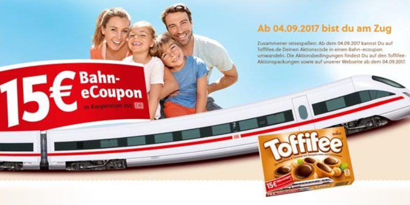 15€ Deutsche Bahn eCoupon in Toffifee Aktionspackungen