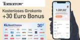Nachhaltiges Tomorrow Girokonto (kostenlos) + 30€ BestChoice-/ Amazon Gutschein Prämie