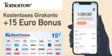 Nachhaltiges Tomorrow Girokonto (kostenlos) + 15€ BestChoice-/ Amazon Gutschein Prämie
