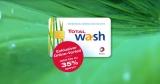Total Waschkarten Gutscheine: 100€ Waschkarte für 65€, 75€ Waschkarte für 52,50€ oder 50€ Waschkarte für 37,50€