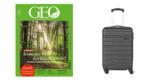 Travelite Lagos 4-Rollen Trolley (55 cm hoch) + GEO Miniabo (3 Ausgaben) für 26,40€