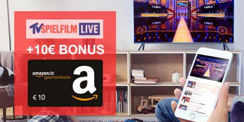 3 Monate TV Spielfilm LIVE (TV-Streaming) für 6,99€ + 10€ Amazon Gutschein