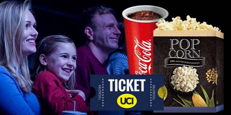 UCI Kinoticket + Popcorn + 0,5l Softdrink oder Bier für 9,99€