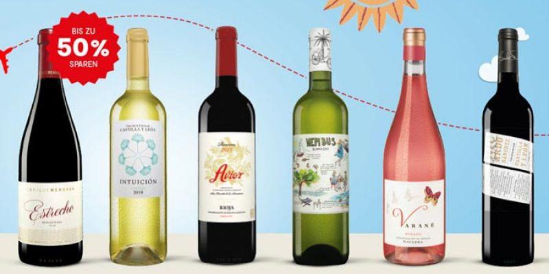 Vinos Sommer-Spar-Tickets: 14 Wein-Angebote + 2 Geschenke