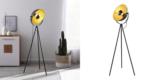 Vintage Stehlampe (schwarz und goldfarben) für 53,19€ inkl. Versand