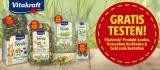 VitaVerde Produkte (Kräuter, Erbsenflocken & Co. für Nagetiere) von Vitakraft gratis testen