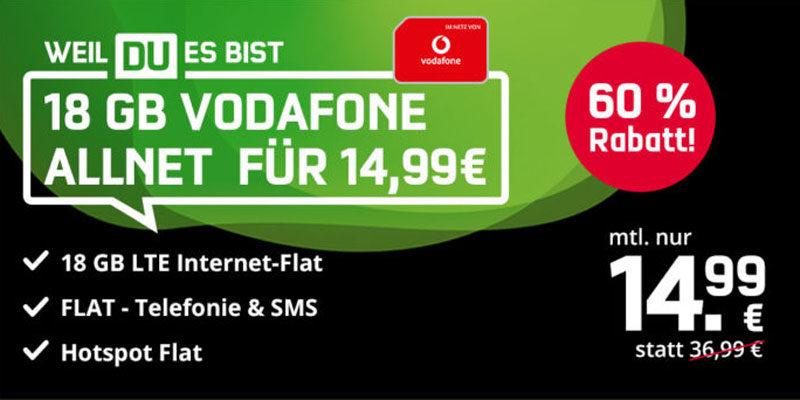 Mobilcom-Debitel Green LTE Sim-Only Tarif mit 18 GB & Allnet-Flatrate für 14,99€/Monat – Vodafone Netz [Black Week]