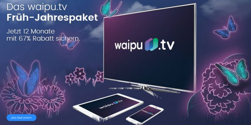 12 Monate waipu.tv Perfect Abo (TV-Sender Streaming) für je 3,30€