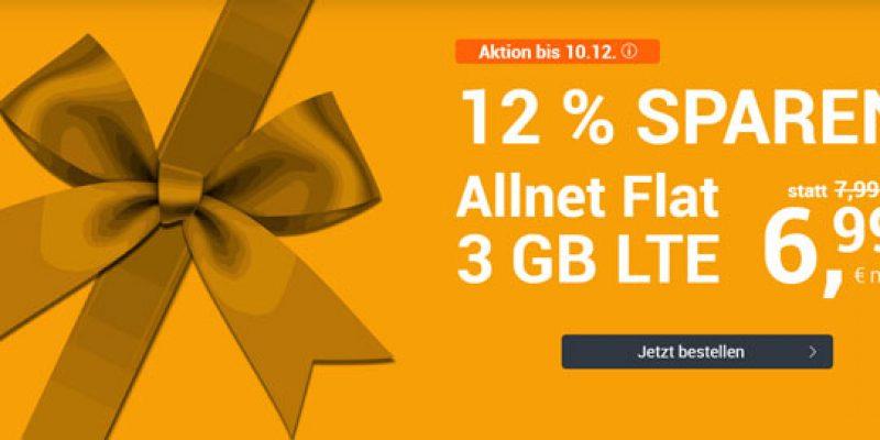 winSIM Nikolausaktion: LTE All 3 GB Tarif mit Allnet-Flat für 6,99€