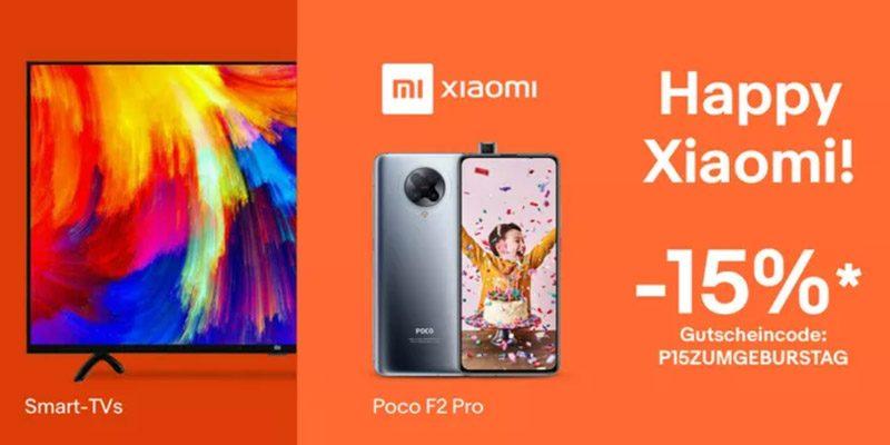 Xiaomi Geburtstag: 15% Gutschein auf Xiaomi Produkte bei ebay