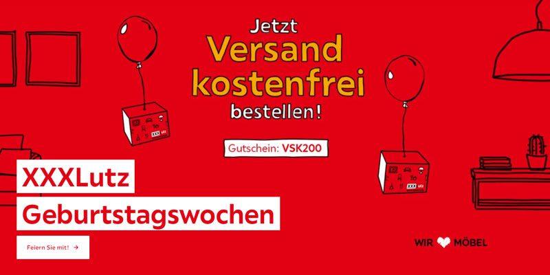 XXXLutz Versandkostenfrei Gutschein ab 200€ Bestellwert