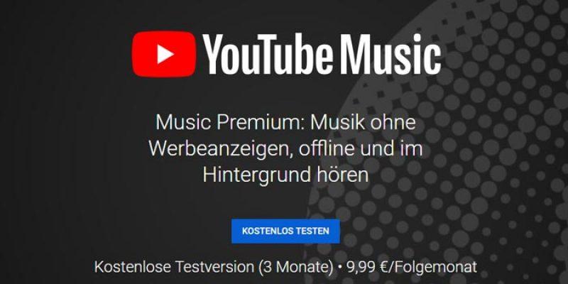 3 Monate YouTube Music Premium kostenlos testen