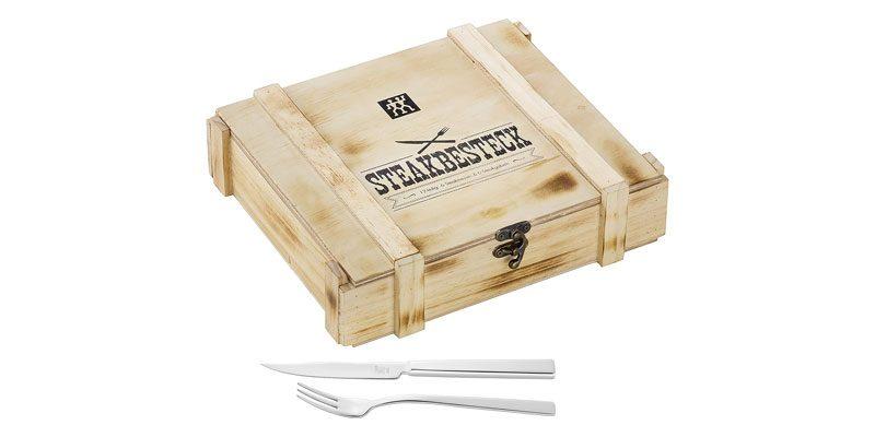 Zwilling Steakbesteckset (12-teilig) in Holzkiste für 21,99€
